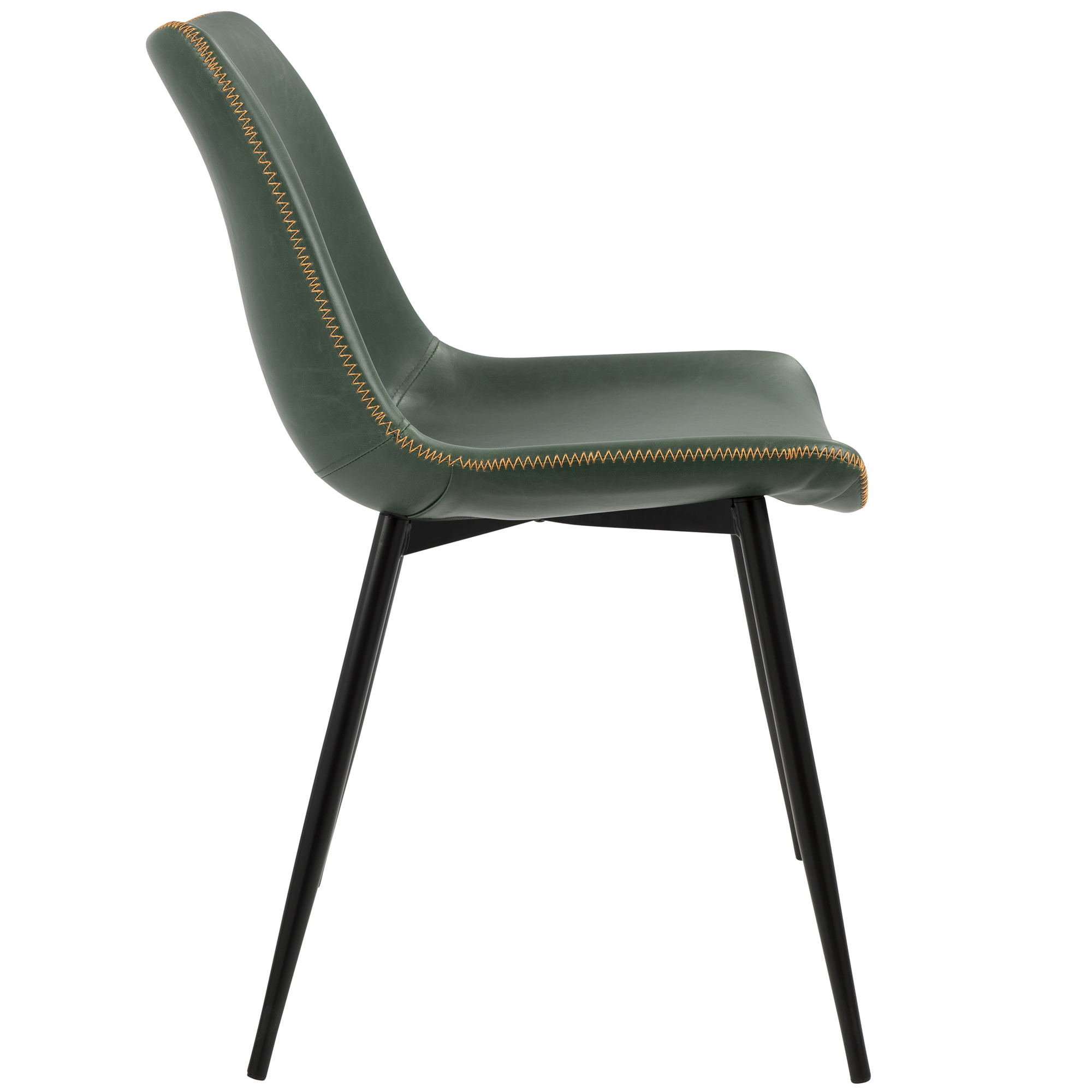 a7b84d9b25220 Durango Contemporary Dining Chair in Black with Green Vintage Faux Leather  by LumiSource - Set of 2 - Walmart.com