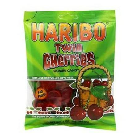 Product Of Haribo, Peg Bag Happy Cherries, Count 12 (5 oz) - Sugar Candy / Grab Varieties & (Cherry Peg)