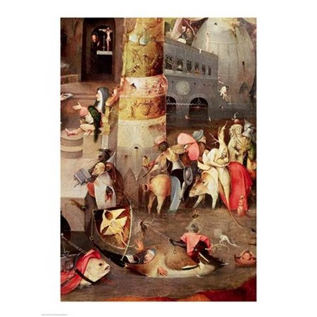 Posterazzi BALXIR227224LARGE Triptych of The Temptation of St. Anthony Detail of The Lower Right Hand Side Print by Hieronymus Bosch - 24 x 36 in. - Large - image 1 de 1