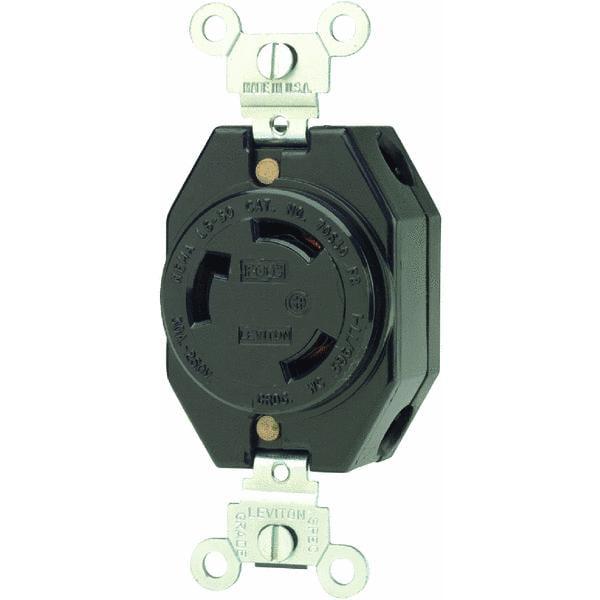 Leviton V-O-MAX 30A Locking Outlet Receptacle