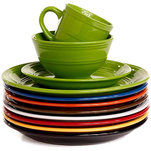 Mainstays 16-Piece Stoneware Dinnerware Set Assorted Colors - Walmart.com  sc 1 st  Walmart & Mainstays 16-Piece Stoneware Dinnerware Set Assorted Colors ...