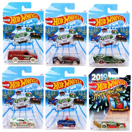 Hot Wheels 2018 Holiday Hot Rods Die-Cast Car 6-Pack