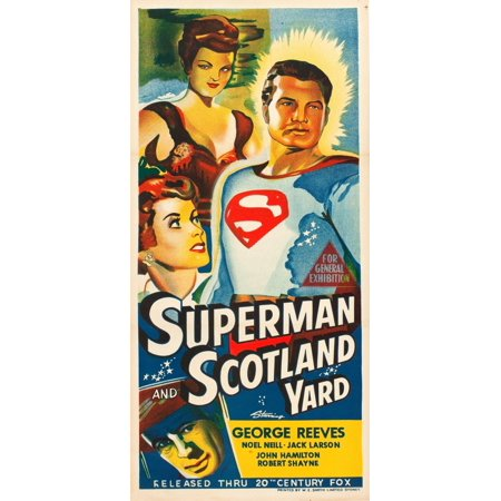 Steel Yard Art - Superman In Scotland Yard Canvas Art -  (24 x 36)