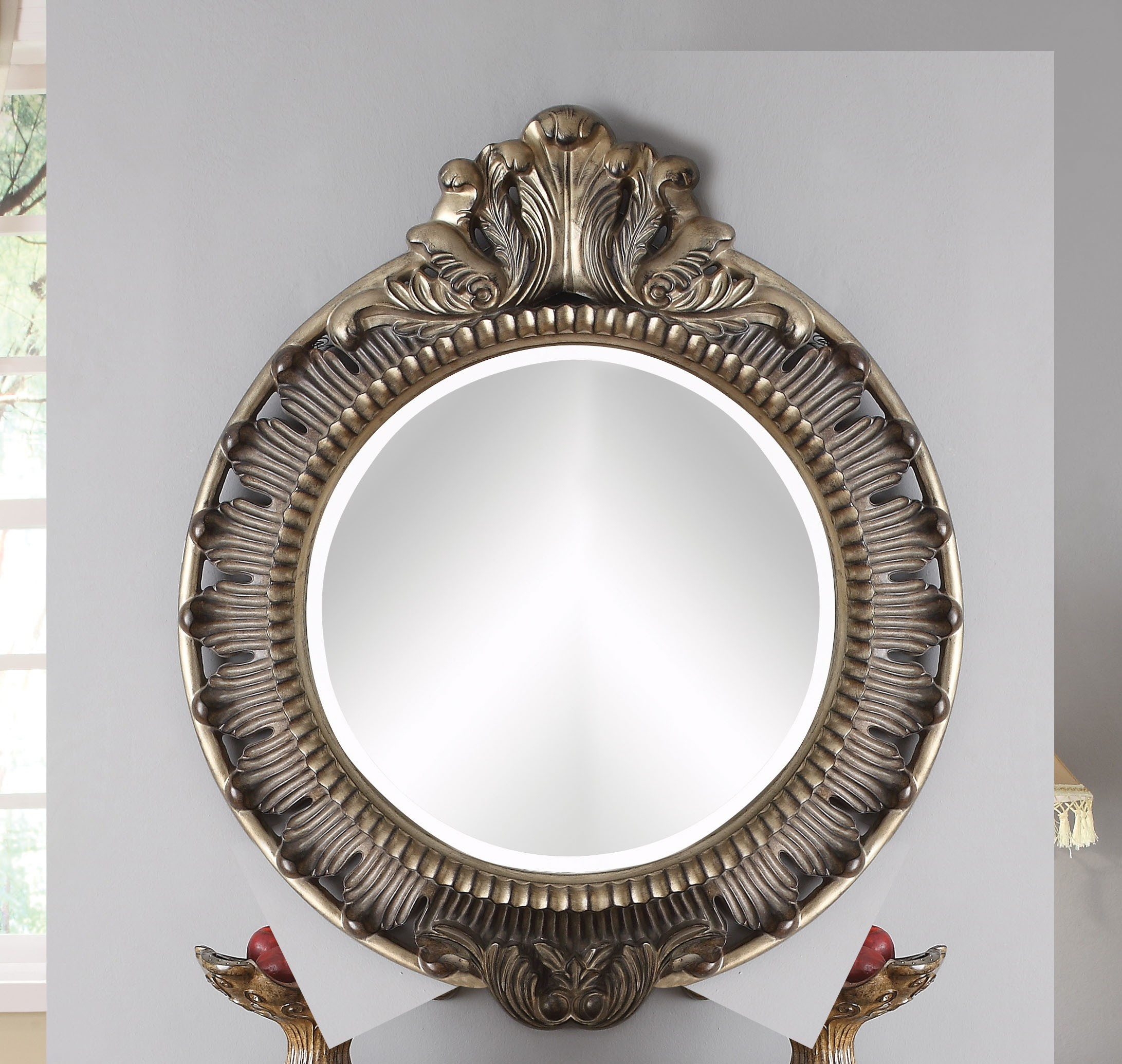 1PerfectChoice Bayley Bronze Taupe Beveled Accent Mirror by 1PerfectChoice