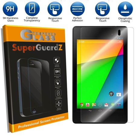 [2-Pack] For Google Nexus 7 (2nd Gen, 2013 Release) - SuperGuardZ Tempered Glass Screen Protector, 9H, Anti-Scratch, Anti-Bubble, Anti-Fingerprint ()