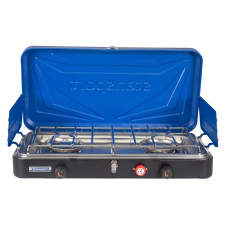 Stansport Outfitter Series 2-Burner Propane Stove - Blue