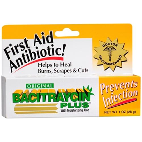 Bacitraycin Plus First Aid Antibiotic Ointment 1 oz (Pack of 6)
