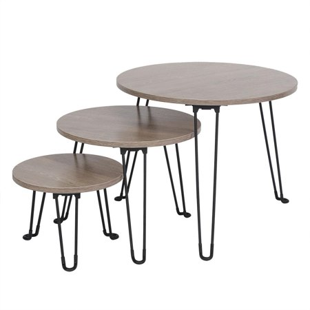 Walfront Set Of 3 Nesting Tables Coffee Table Set End Side