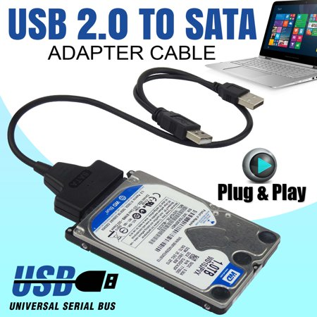 New USB 2.0 TO 2.5 SATA Cable Serial ATA Adapter For HDD/SSD Laptop Hard Drive