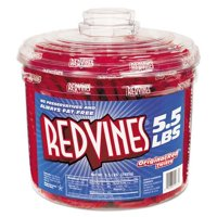 Red Vines 827495 Original Red Twists, 5.5 Tub