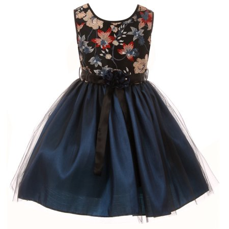 bc69342c0d9 Big Girls  Floral Tulle Christmas Birthday Holiday Party Flower Girl Dress  Teal 12 (J21KS48)