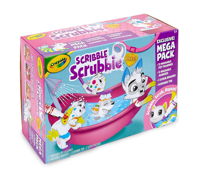Crayola Mega Scribble Scrubbie Set, Toy Pet Playset