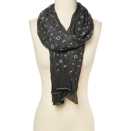 Charcoal Scarfs for Winter Fashion Floral Neck Scarves for Women Soft luxurious Silk and Viscose Scarf Gift Ideas for Ladies and Girls Summer Fall Accessory by Oussum](Fall Ideas)