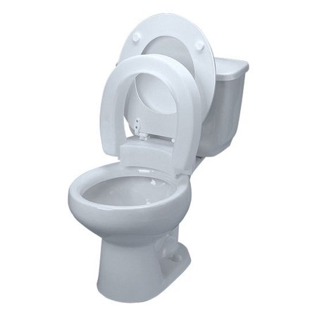 Tall-Ette Elevated Hinged Elevated Toilet Seat, Elongated-1 Each