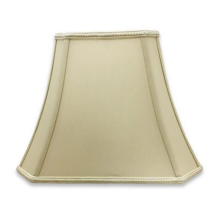 Rectangle Bell (Royal Designs Rectangle Bell Cut Corner Designer Lampshade - Beige - (6.25 x 8) x (11 x 16) x 12 )