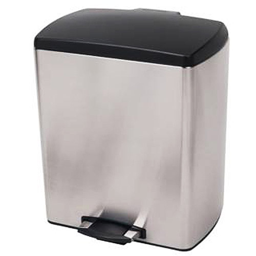 Stainless Steel 6-1/2-Gallon Rectangle Step Can
