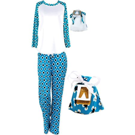 Hello Mello Luxurious Soft Womens Loungewear Set, Top and Pant Matching Set with Drawstring Bag, Max Relax