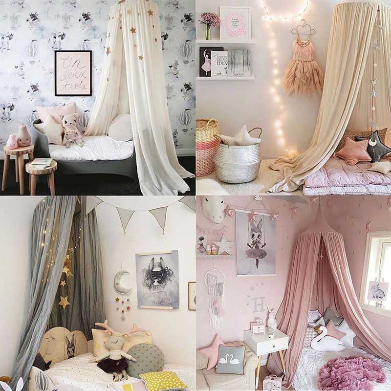 ENJOY Europeian Round Curtain Dome Bed Canopy Netting Princess Girls Mosquito Net & Princess Canopy Beds