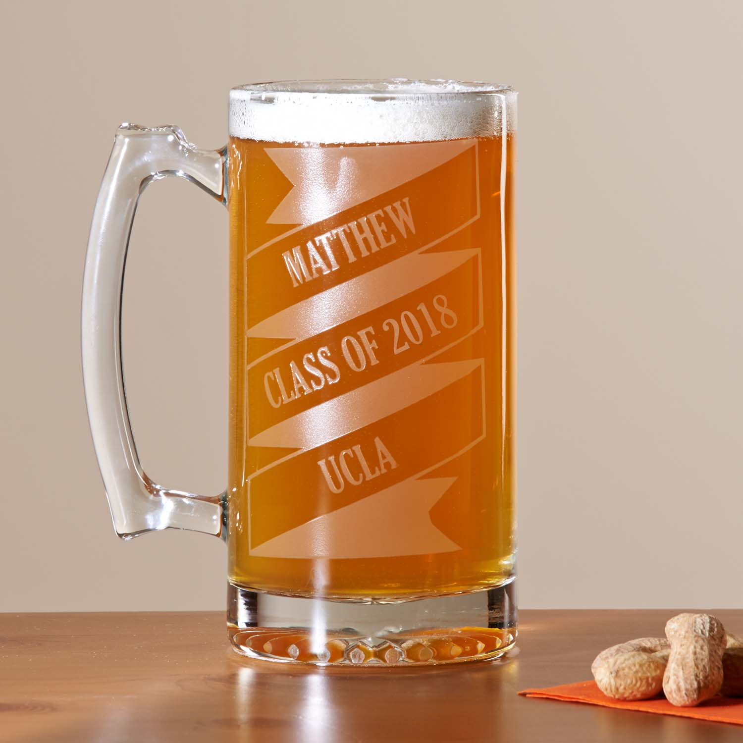 Personalized Celebration Banner Beer Mug