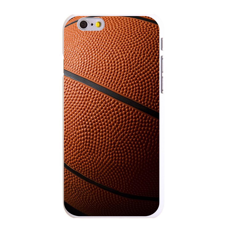 "CUSTOM White Hard Plastic Snap-On Case for Apple iPhone 6 / 6S (4.7"" Screen) - Basketball Photo"