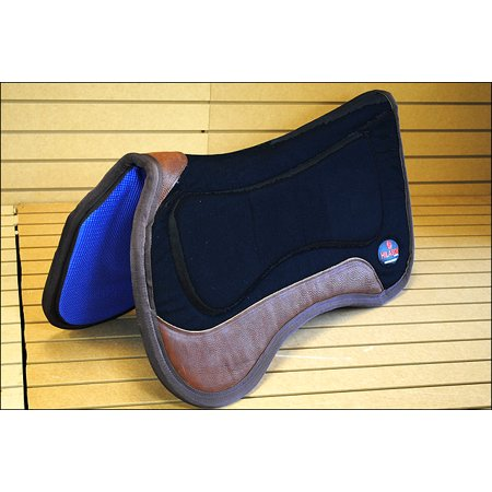 BLACK HILASON CLOSE CONTACT ANTI SLIP WITHER RELIEF HORSE SADDLE PAD MADE IN (Best Saddle Pad For High Withers)