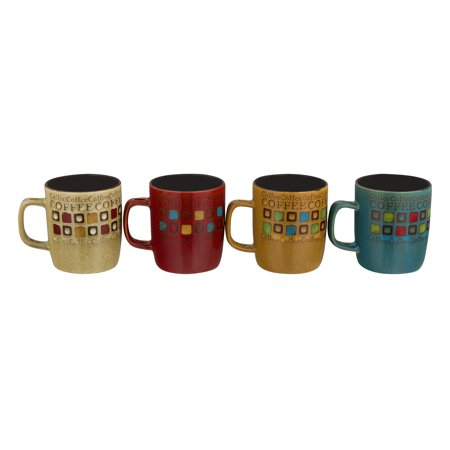 Mr. Coffee Cafe Americano Mugs With Spoons - 8 PC, 8.0 PIECE(S) (Coffee Mugs In Bulk)