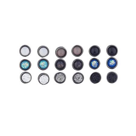 Hematite Round Earrings - Lux Accessories Hematite Assorted Circle Stone Multi Earring Pack Set 9 pics