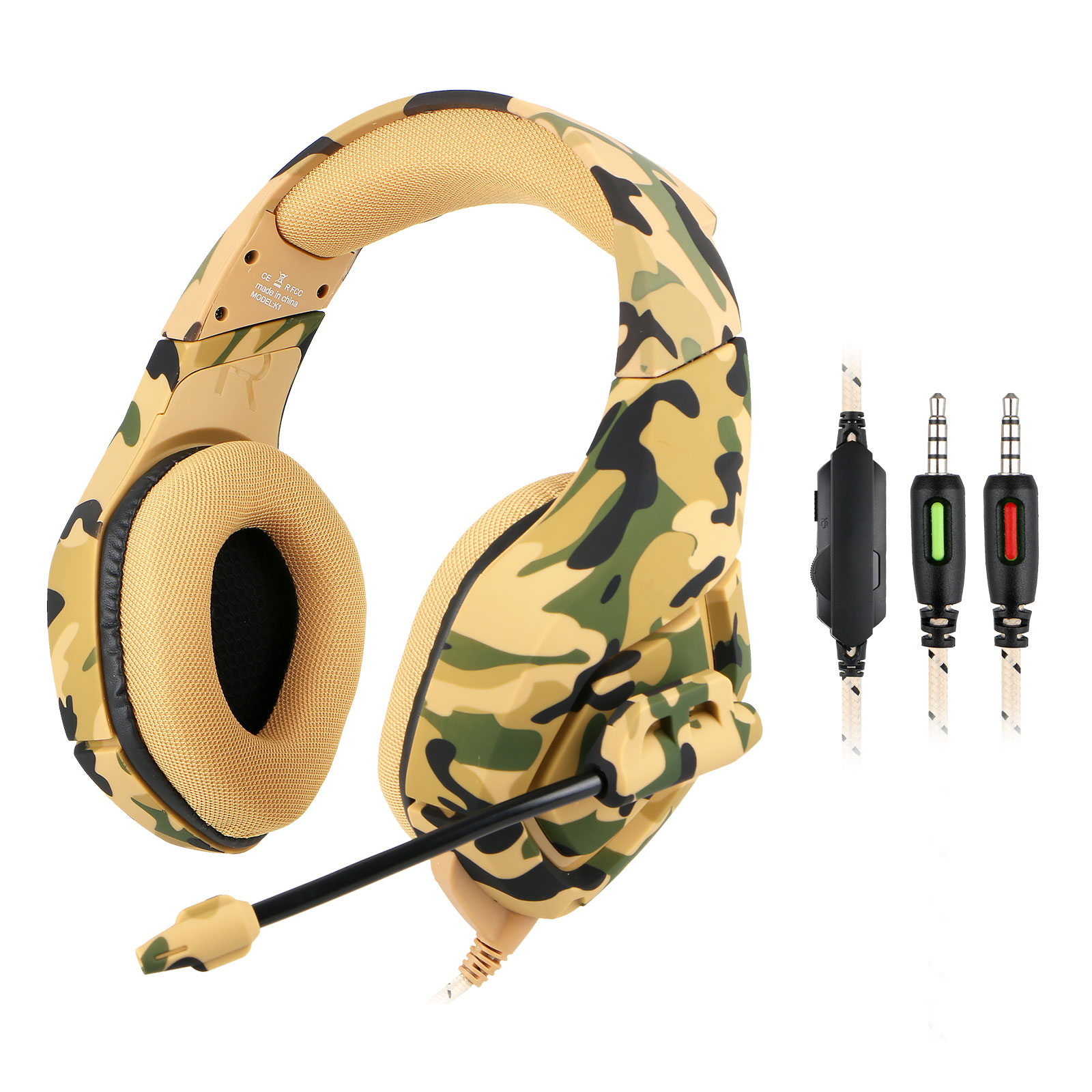 Electronic Sports Headset Stereo Surround Gaming Headphone with Mic for Xbox One PS4 PC Phone Tablet