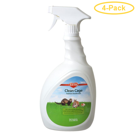 Kaytee Clean Cage Habitat Deodorizer 32 oz - Pack of 4 Super Pet Clean Cage Deodorizer