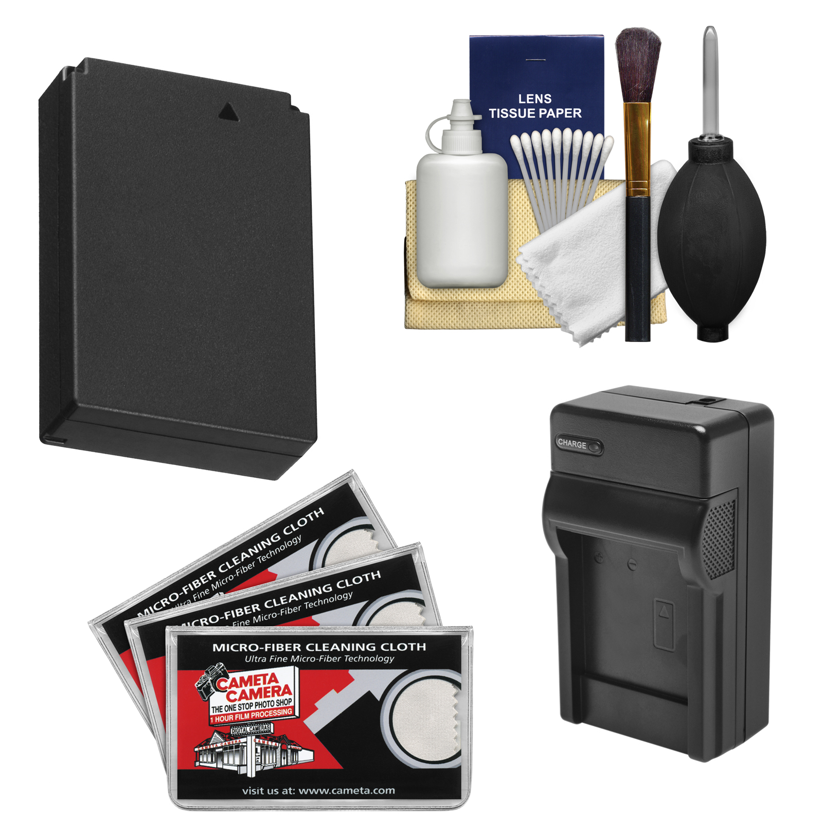 Essentials Bundle for Canon Rebel SL1 DSLR Camera with LP-E12 Battery & Charger + Cleaning Kit