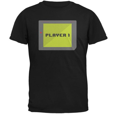 Female Football Player Halloween (Halloween Old School Gamer Player 1 Mens T)