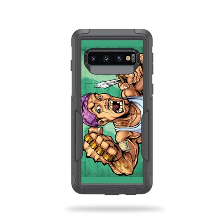 MightySkins Skin Compatible With Otterbox Commuter Samsung Galaxy S10 - Angry Mahi Mahi   Protective, Durable, and Unique Vinyl wrap cover   Easy To Apply, Remove, and Change Styles   Made in the USA (Cannabis Rose)