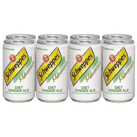 Diet Schweppes Ginger Ale, 7.5 fl oz, 8 pack