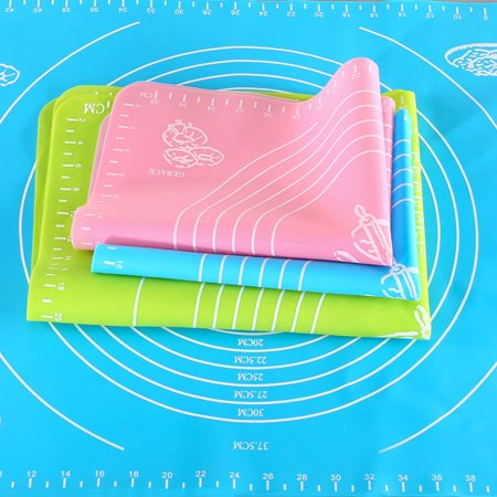 Silicone Baking Mat Non-stick Heat Resistant Dining Table Mat Pastry Baking Rolling Cut Mat Kitchen Tool - image 3 of 3