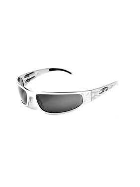ICICLES Baby Bagger Smoke Mirror Lens Sunglasses with Silver Flames Frame
