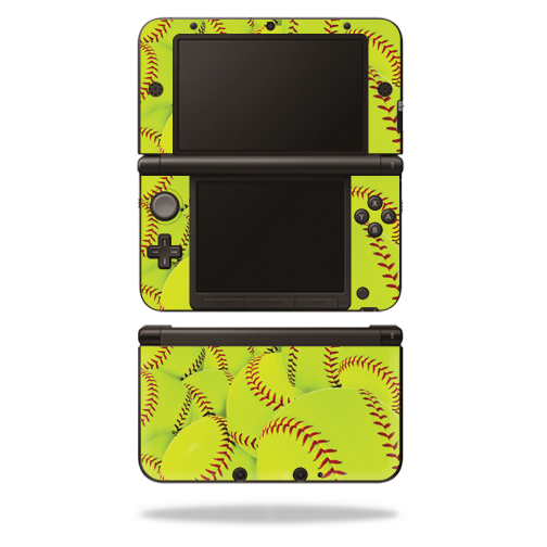 MightySkins Protective Vinyl Skin Decal Cover for Nintendo 3DS XL Original (2012-2014 Models) Sticker Wrap Skins Softball Collection