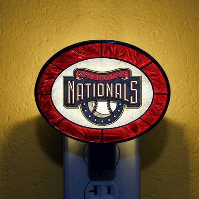 The Memory Company Washington Nationals Art Glass Nightlight