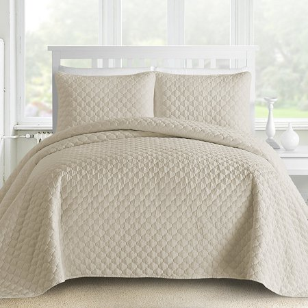 Gifted Lantern Ogee Quilted 3-piece Coverlet Set