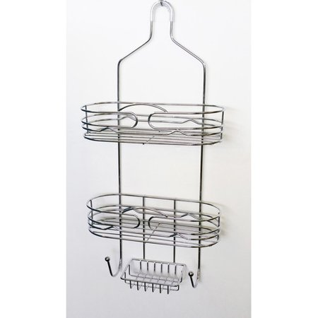 White Wood Caddy - Jollen Home Creation Embrace Shower Caddy