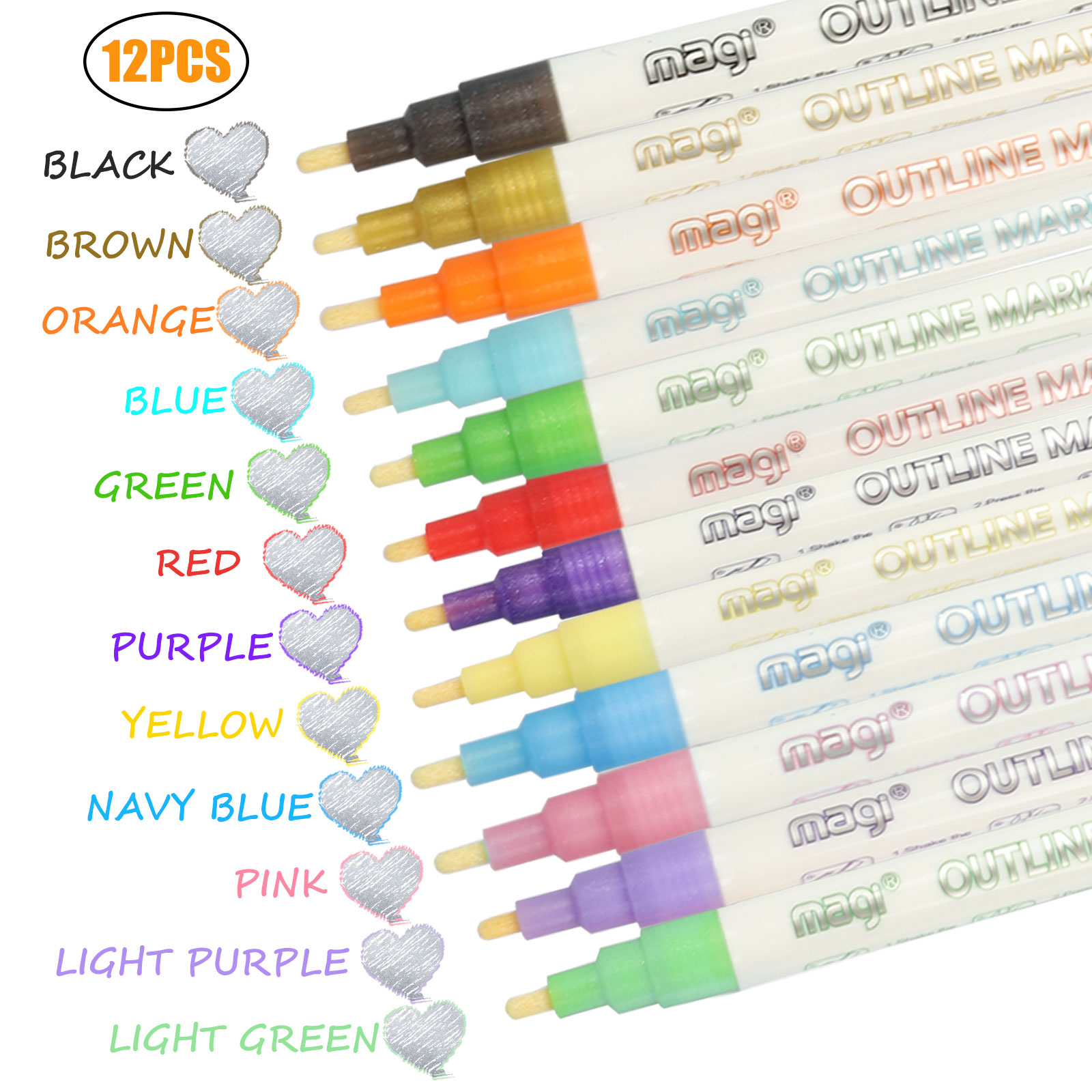 Wood Pebbles INMUA Paint Pens 16 Colours Acrylic Paint Pens for Rock Painting