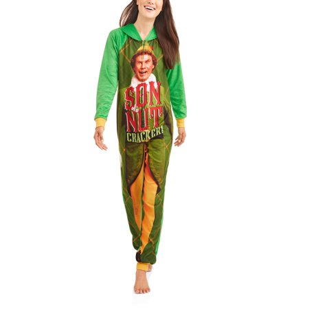 Elf Women's and Women's Plus Sleepwear Adult One Piece Costume Union Suit Pajama (XS-3X) - All In One Suits For Adults