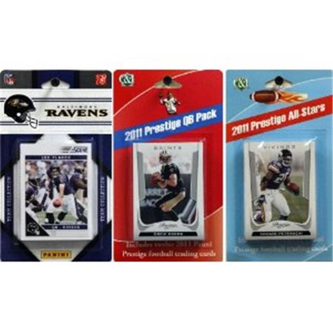 C & I Collectables 2011RAVENTSC NFL Baltimore Ravens Licensed 2011 Score Team Set With Twelve Card 2011 Prestige