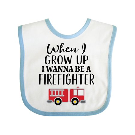 Future Firefighter Kids Fireman Baby Bib White/Blue One