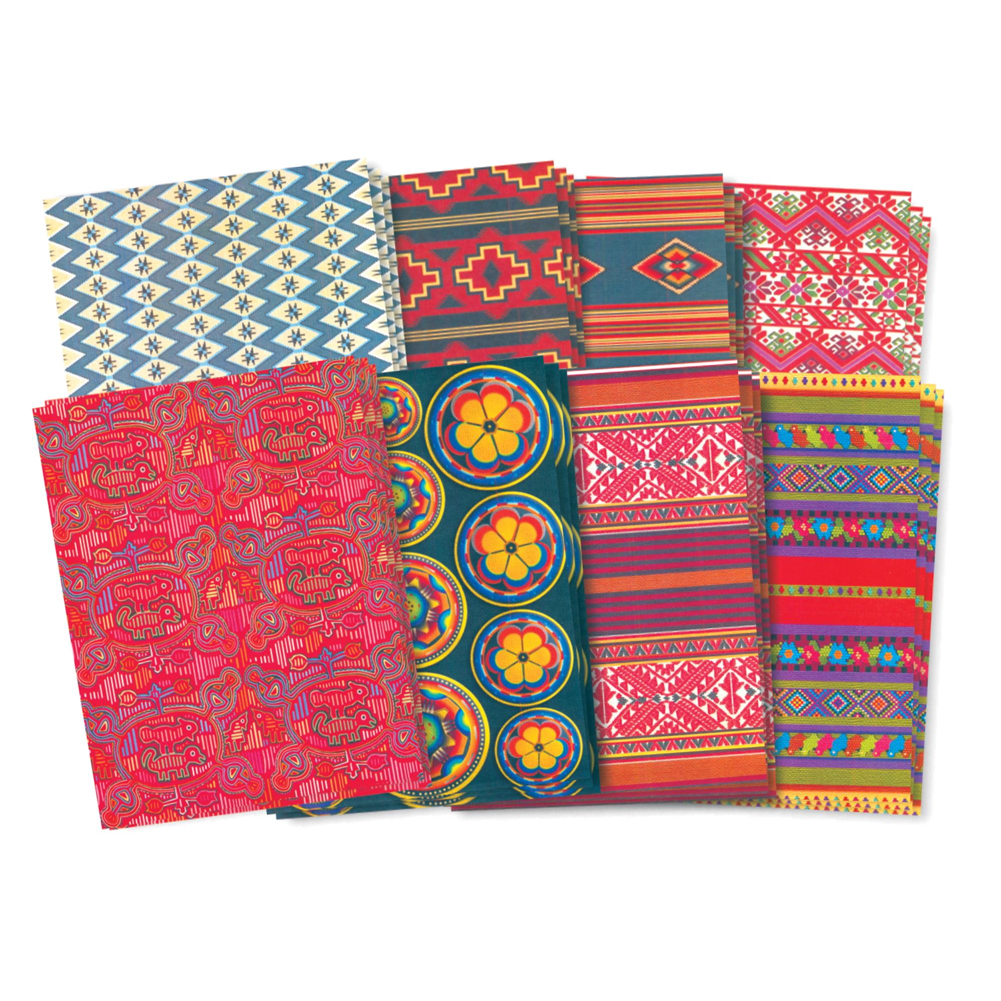 Roylco® Hispanic Paper, 32 sheets/pkg, Set of 3 packs