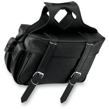 All American Rider 9066P Box Style Slant Saddlebag - Plain - Large - 19in.L x 6in.W x 9.5in.H