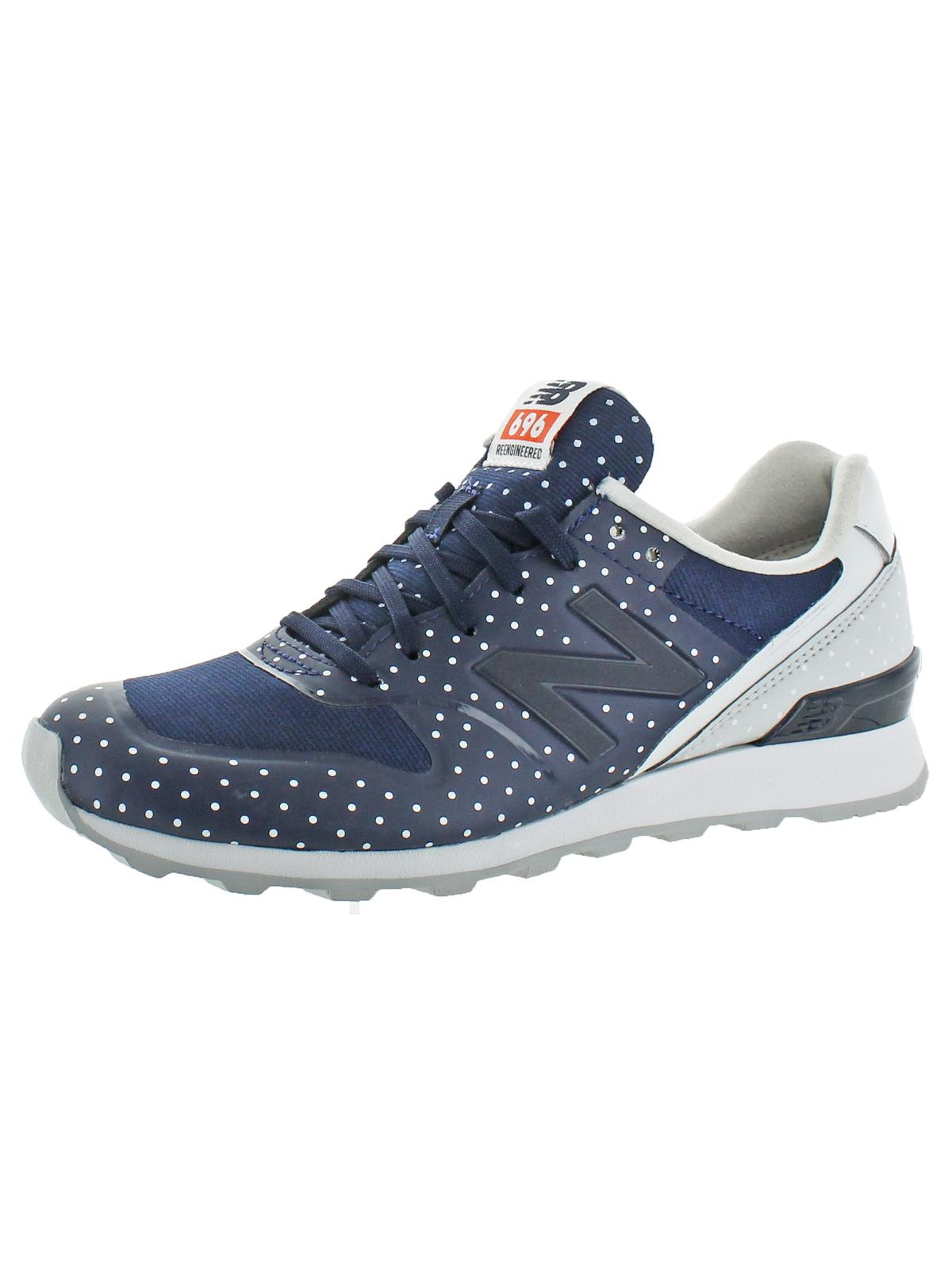 New Balance Womens 696 Faux Leather Mini Dot Running Shoes