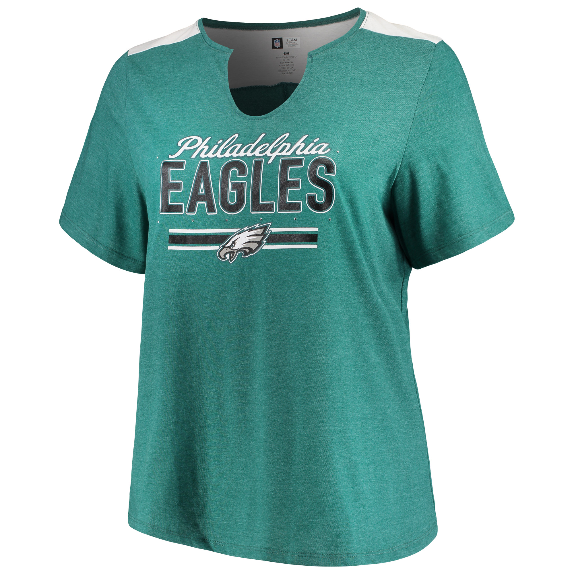 inexpensive product image womens majestic heathered midnight green philadelphia  eagles notch neck plus size t shirt fbbbc2e17