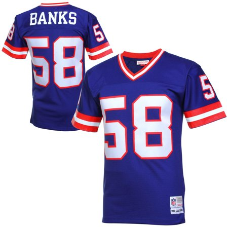 various colors c5e9b 5b9a3 Mens New York Giants Carl Banks Mitchell & Ness Royal Blue Retired Player  Vintage Replica Jersey