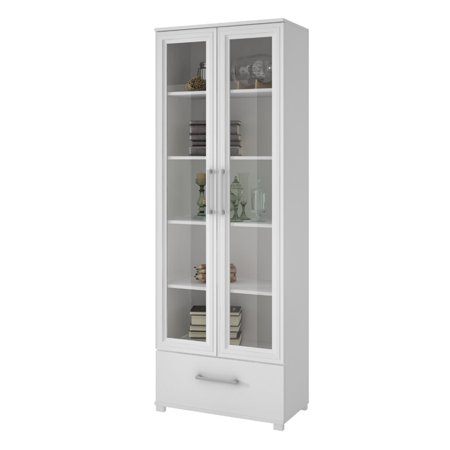 Atlin Designs 5 Shelf Curio Cabinet in White
