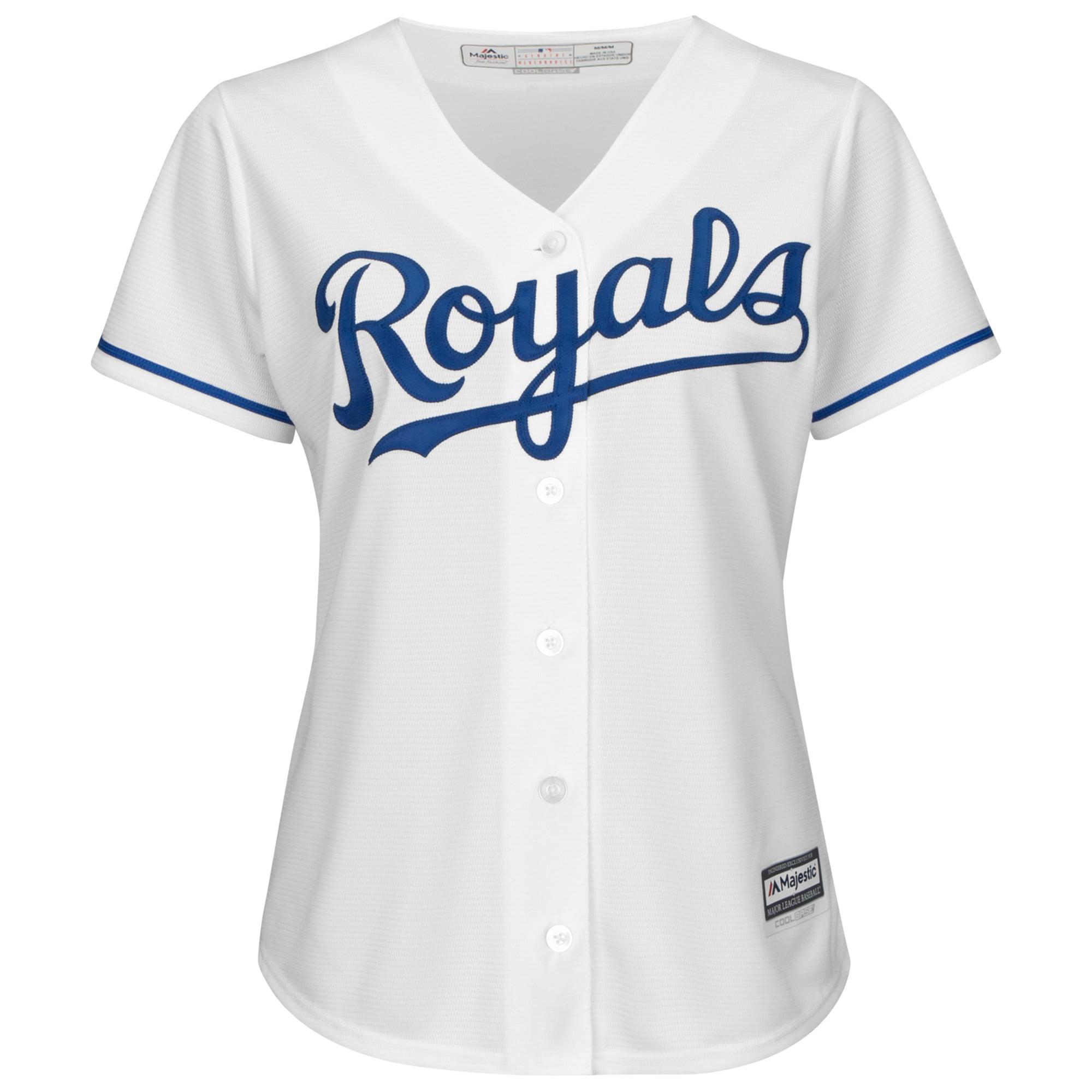 new style 91bf0 048b1 Lorenzo Cain Kansas City Royals Majestic Women's Cool Base Player Jersey -  White